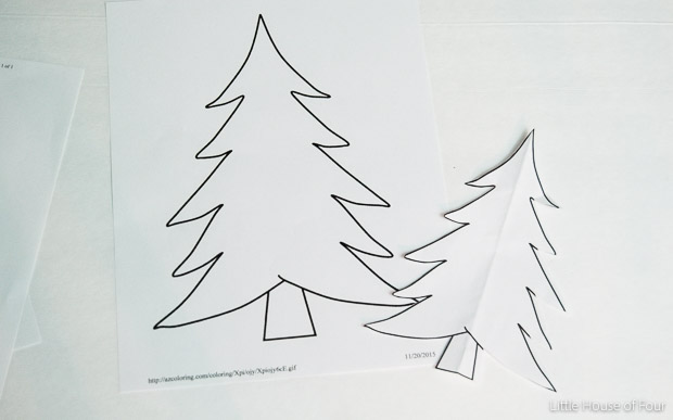 Tree printable for felt trees
