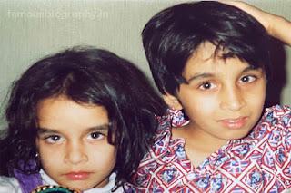 Siddhanth Kapoor and his sister childhood image