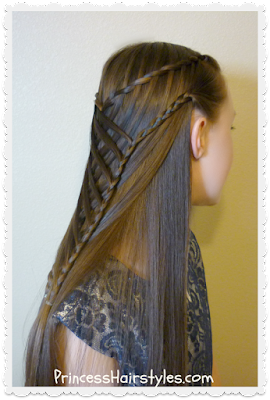 Gorgeous mermaid hairstyle. Woven waterfall twist braids.