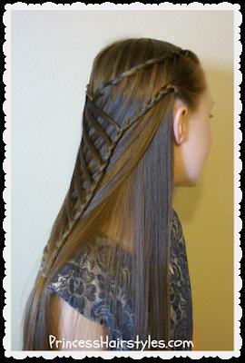 Criss Cross Waterfall Mermaid Braid Hairstyle - Hairstyles ...