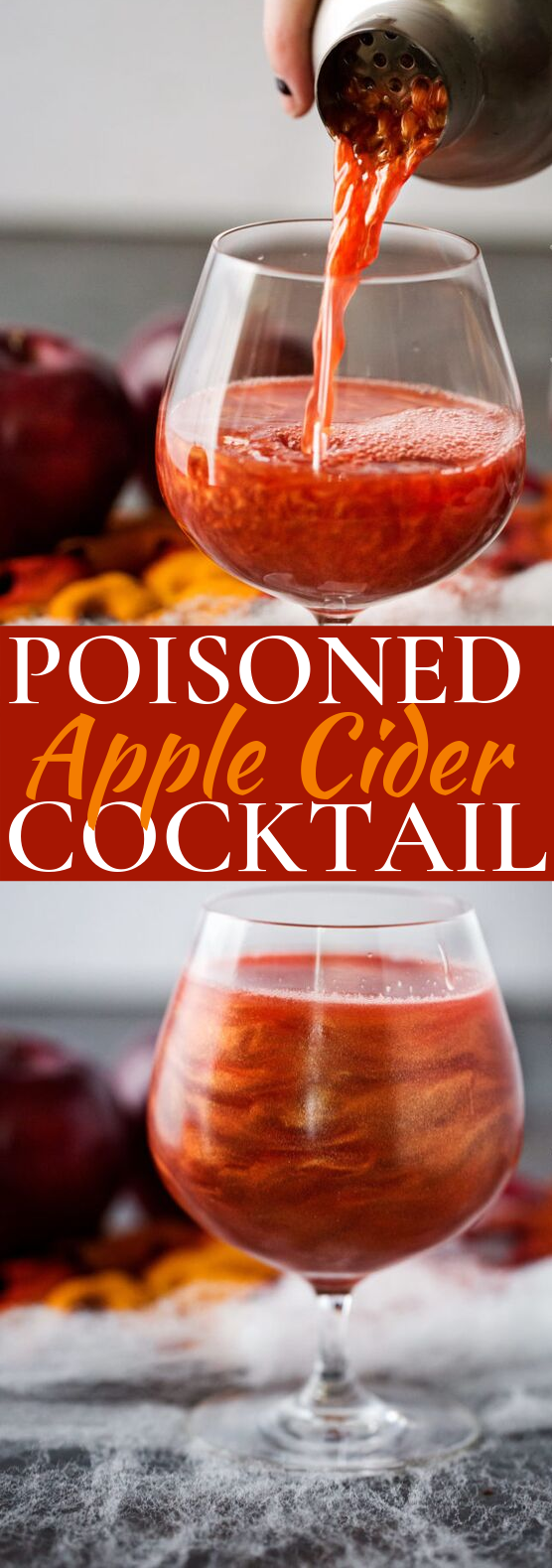 Poisoned Apple Cider Cocktail #drinks #cocktails