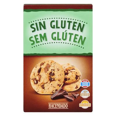 Cookies con chocolate sin gluten Hacendado