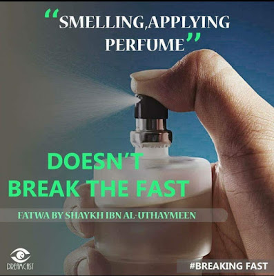 Smelling and applying Perfume does not break the fast | Those Things that Break the Fast or Not by Ummat-e-Nabi.com