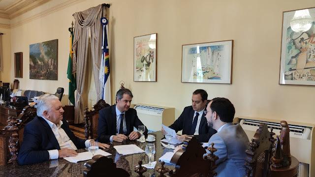 Prefeito Arquimedes e Fernando Monteiro tem reunião com Paulo Câmara