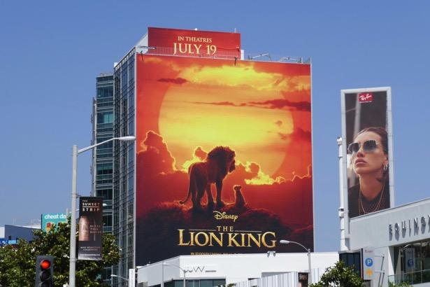 Lion King movie billboard