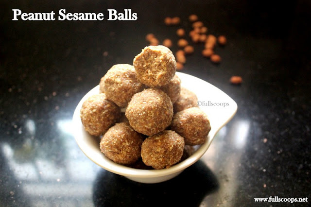 Peanut Sesame Balls
