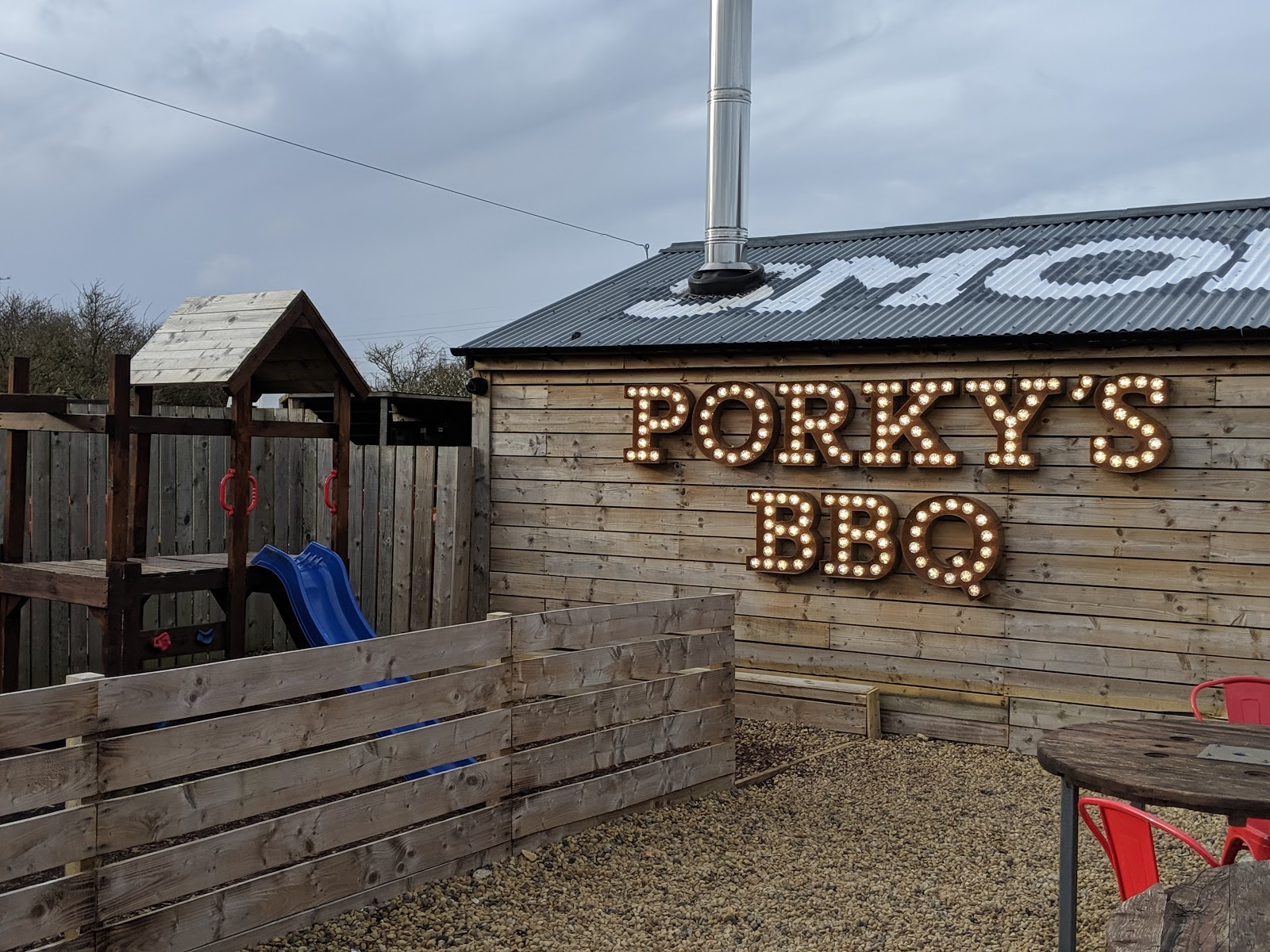 Kids Eat Free at Porky's - A Review  - play area