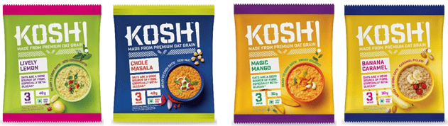 KOSH launches Instant Oats in delicious sweet, popular Indian and spicy Chinese savoury flavours