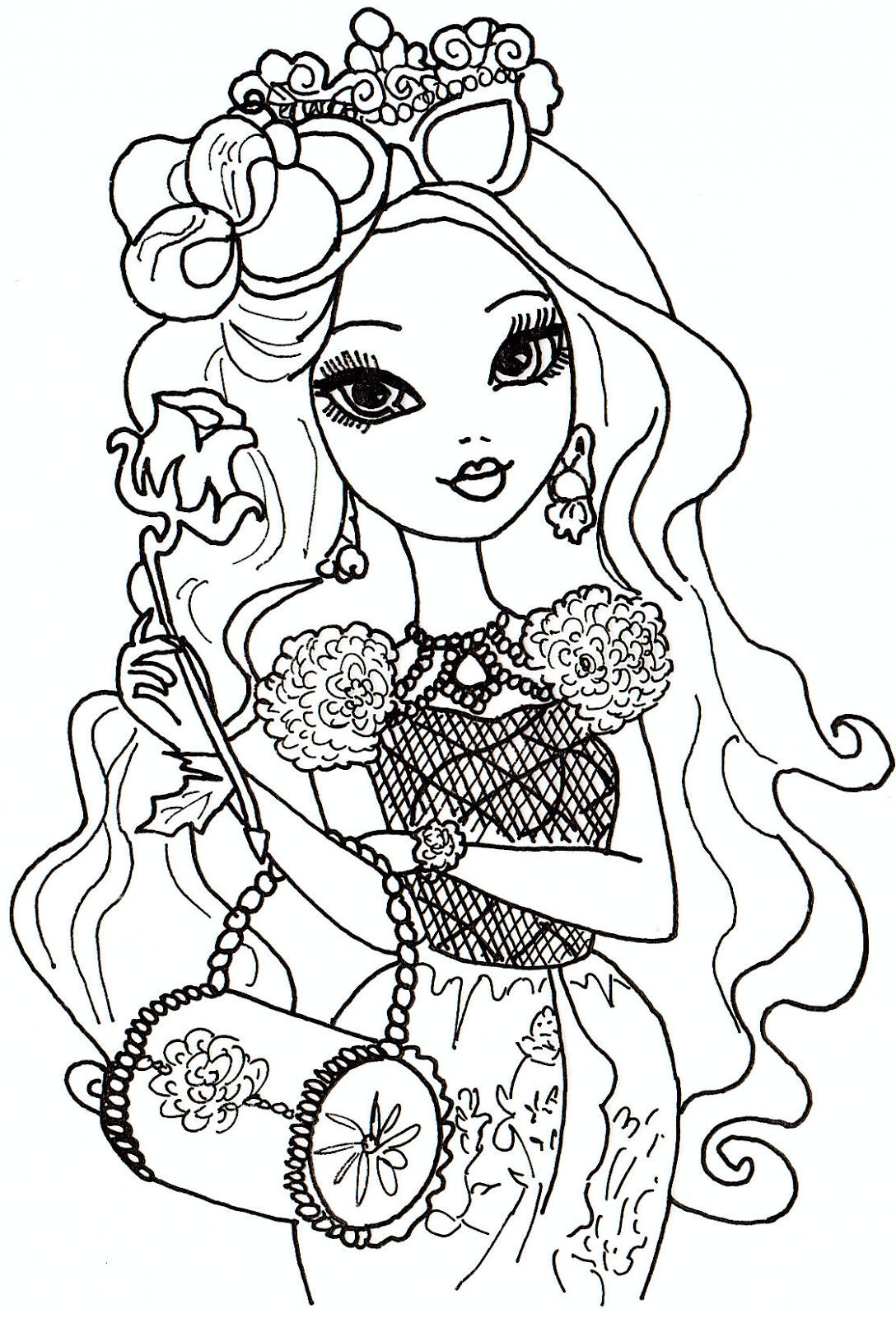 Kids-n-fun.com | 49 coloring pages of Ever After High | 1600x1088