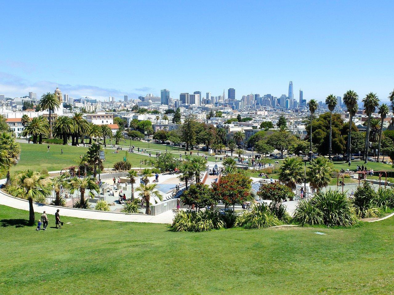 parque americano com area verde
