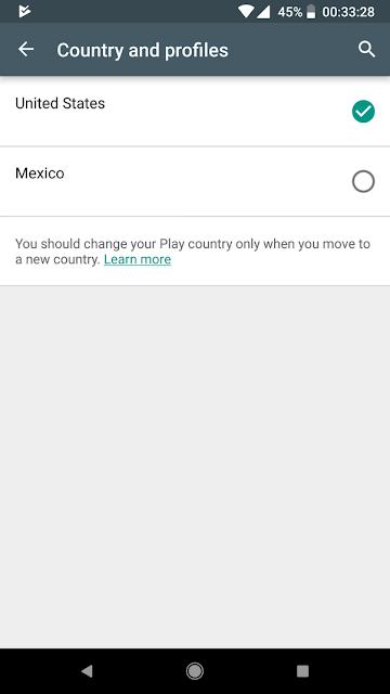 طريقة تغيير البلد أو المنطقة في متجر جوجل بلاي Google Play Store على هاتفك أندرويد.