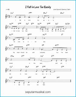chord i fall in love too easily lagu jazz standar