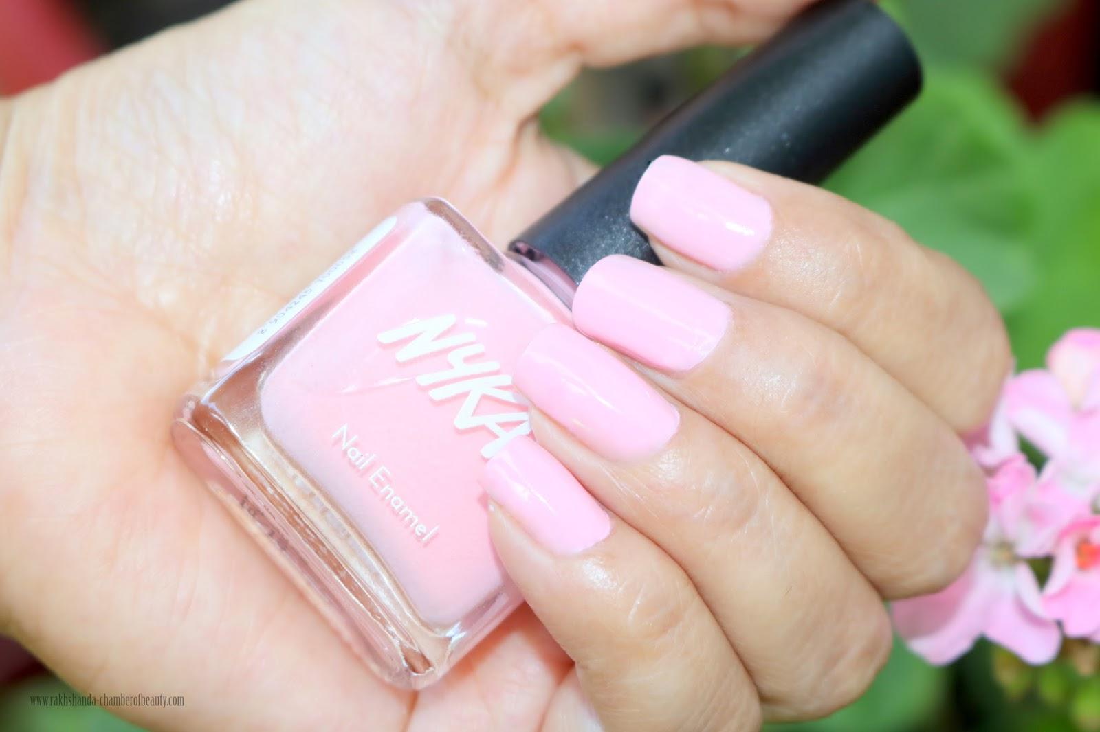 NOTD - Nykaa Pastel Nail Enamel Cotton Candy