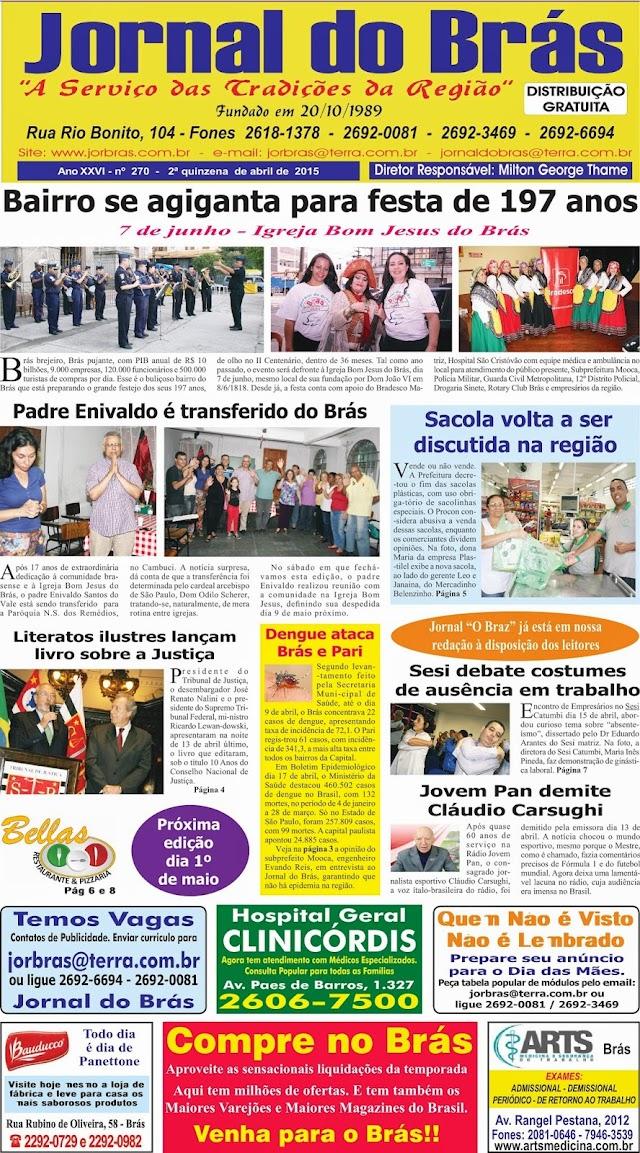Destaques da Ed. 270 - Jornal do Brás