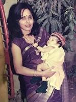 nikki tamboli childhood photos with here mother