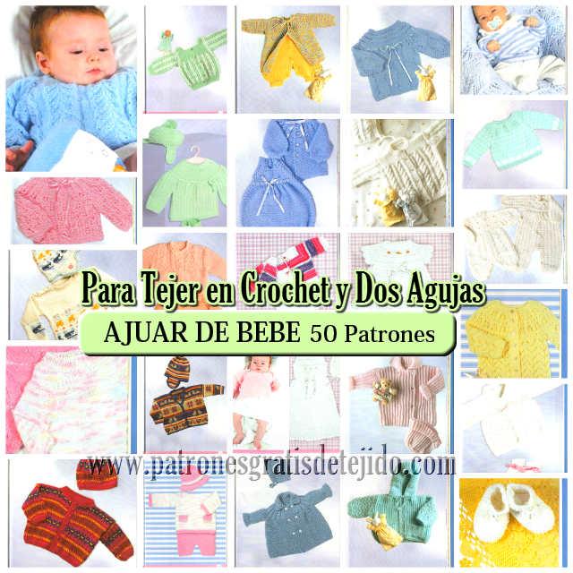 Modelos para tejer el ajuar del bebe