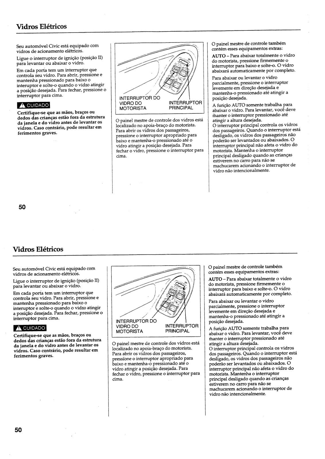 MANUAIS DO PROPRIETÁRIO GRÁTIS: MANUAL DO HONDA CIVIC 1992