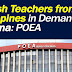 English teachers from PH in demand in China