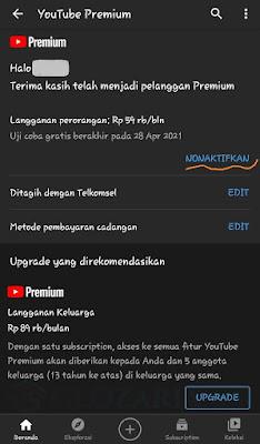 Cara Membatalkan Langganan Youtube Premium