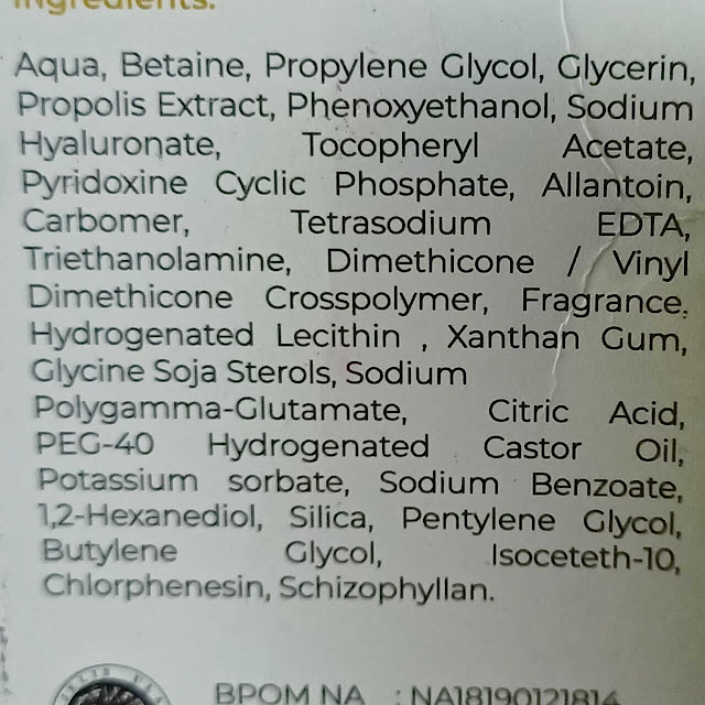 ingredients hanasui propolis serum