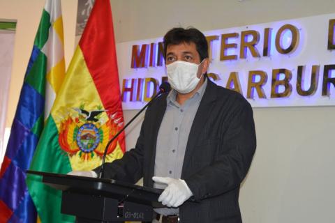 Víctor Hugo Zamora, ministro de Hidrocarburos / ABI