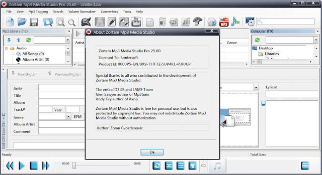 Screenshot Zortam Mp3 Media Studio Pro 25.60 Full Version