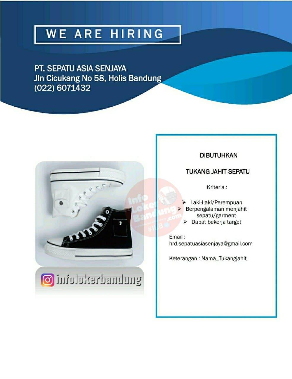 Lowongan Kerja PT. Sepatu Asia Senjaya Bandung September 2021
