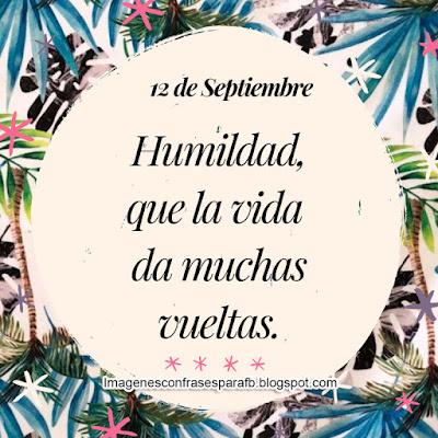 Frase del Día 12 de Septiembre