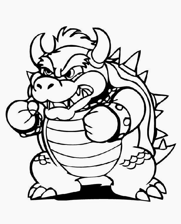 Super Mario Bros Bowser Coloring Pages Colorings Net