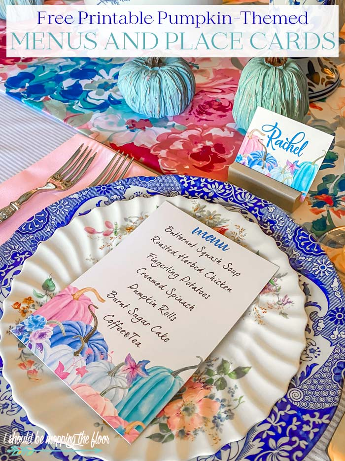 Fall Menu and Place Cards