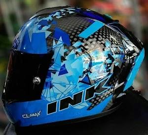 CL Max Seri 6 Blue Lengkap Aksesoris | Helm Makassar