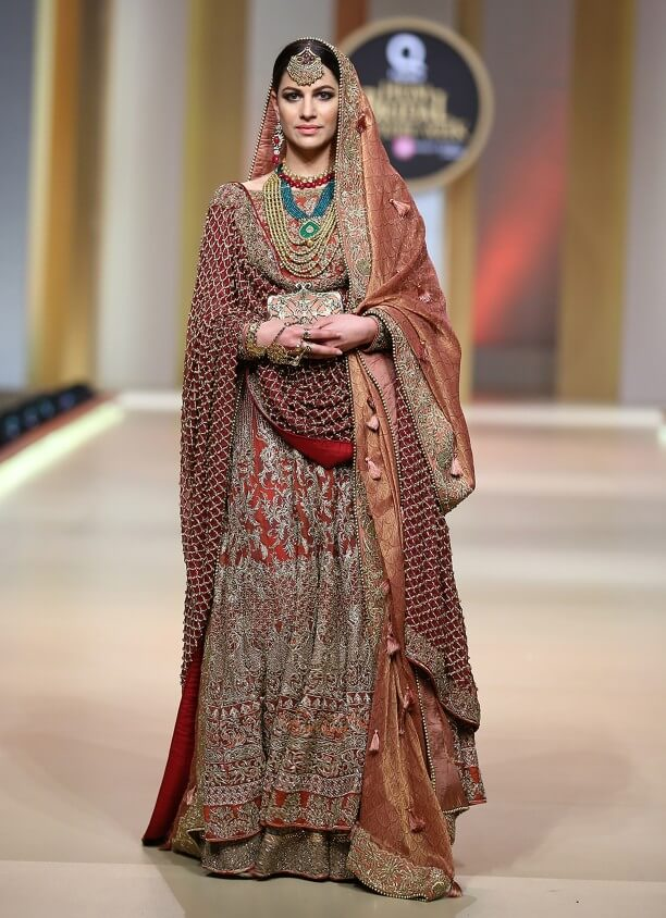 Traditional Wedding Designer Pakistani Bridal Dress by HSY Bridal Collection