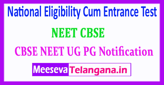 NEET National Eligibility Cum Entrance Test 2018 Application Form Notification Exam Dates Admit Card Download