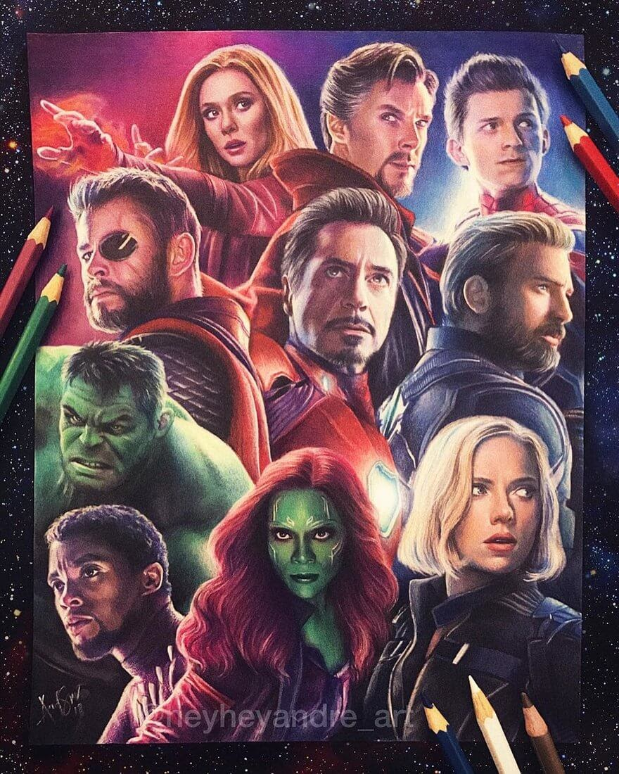 03-Infinity-War-A-Manguba-Drawings-of-Celebrities-and-the-Zodiac-www-designstack-co