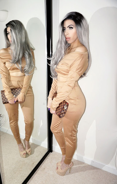 the Femme Luxe Camel Crop Loungewear Set - Deanna.