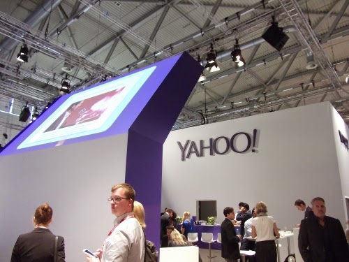 dmexco 2014: Der Yahoo-Stand.