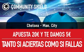 sportium promocion Chelsea vs City 5 agosto