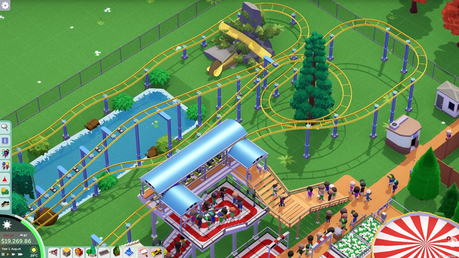 Parkitect hits 1 0 news - Indie DB