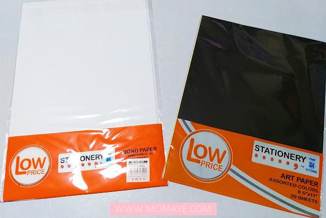 SM Department Store, SM Stationery, bond paper, art paper