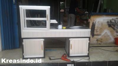 Gerobak Aluminium Motor untuk Dagang Cilok pesanan Bpk Agil di Cibinong Bogor