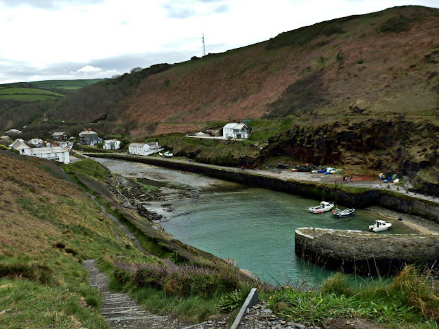 Looking back at Boscastle from hillside
