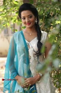 Tamil Actress Koushika Stills in White Salwar Kameez at Inayathalam Tamil Movie Audio Launch  0005.jpg