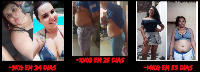Receitas para secar em 30 dias antes e depois