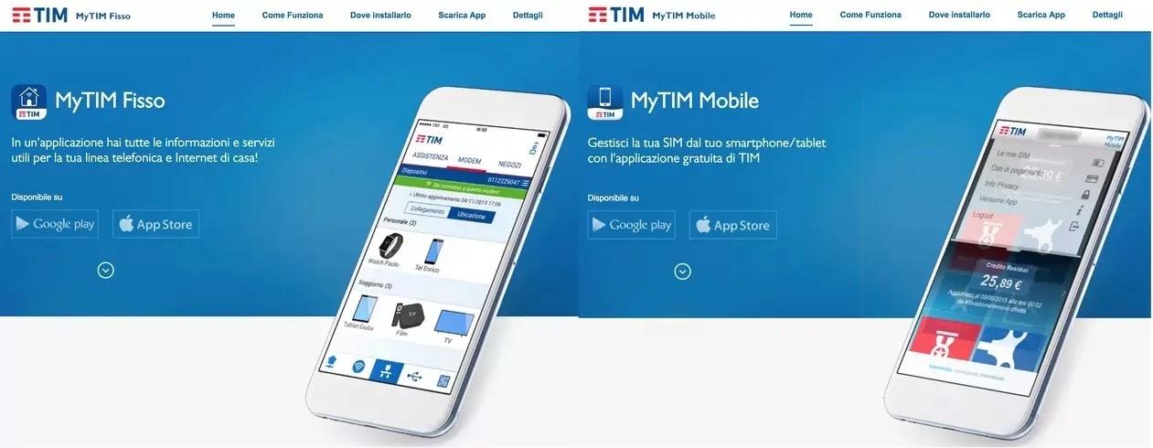 app mytim fisso e mobile per android e ios