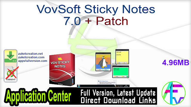VovSoft Sticky Notes 7.0 + Patch