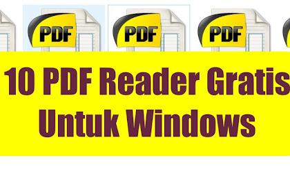 10 Download Aplikasi PDF Gratis untuk Windows