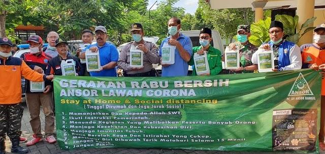 PC GP Ansor Bangil Luncurkan Gerakan Rabu Bersih Ansor Lawan Corona