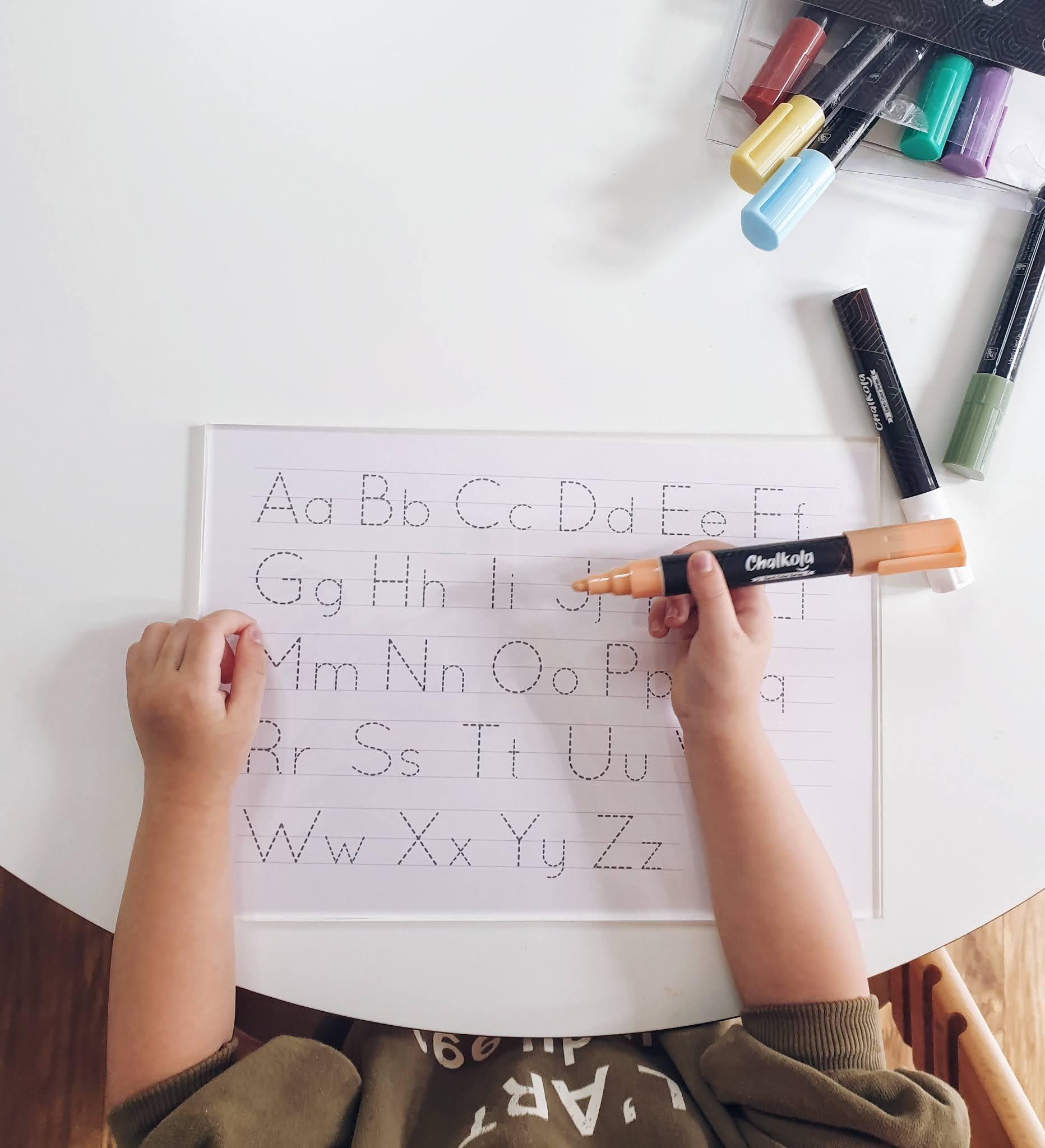 DIY Letter trace board