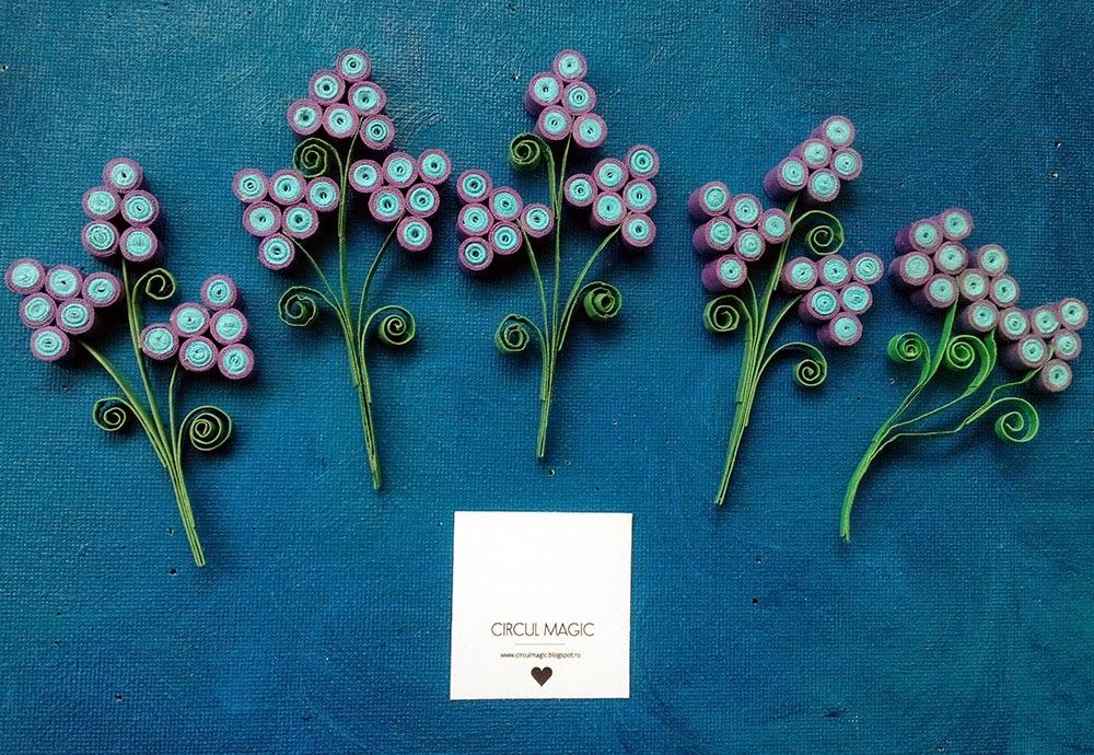 Muscari, florile colorate ale primaverii, Circul Magic Quilling Blog