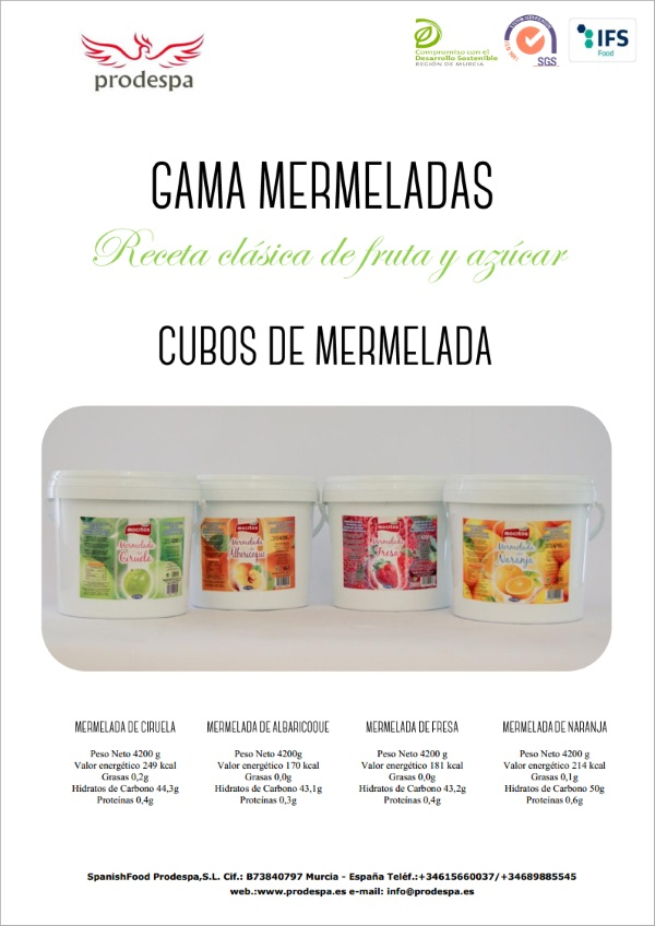 Spanish Food Prodespa: Jams / Mermeladas